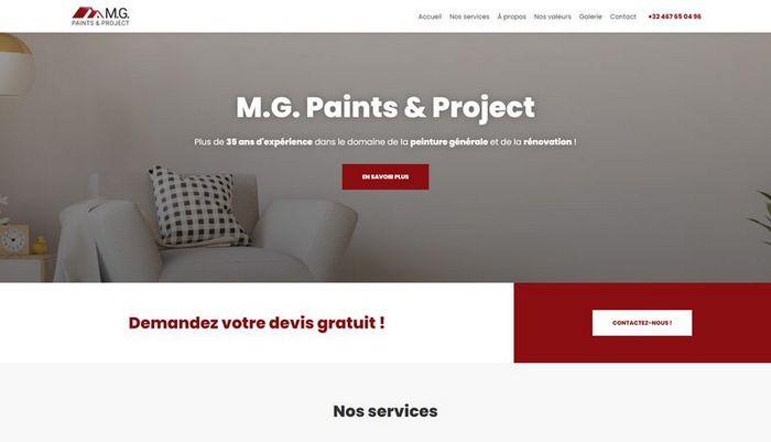 Création du site internet de M.G. Paints & Project