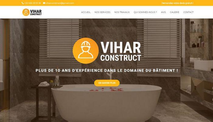 Création du site internet de Vihar Construct